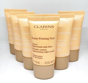 6X SEALED CLARINS EXTRA FIRMING DAY & WRINKLE CONTROL REGENERATING NIGHT CREAM