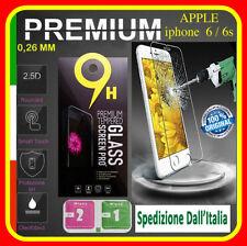 Pellicola Vetro Temperato per Apple Iphone 6 e 6S Protezione Schermo Antigr 4.7.