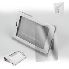 CASE COVER+SCREEN PROTECTOR MAGNETIC POUCH PU LEATHER WHITE GOOGLE ASUS NEXUS 7""