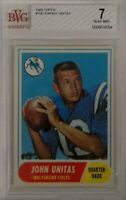 Johnny Unitas 1968 Topps #100 Graded BVG Near Mint 7 HIgh Grade Colts BGS 76094