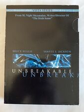 Unbreakable (Dvd, 2001, 2-Disc Set Vista Series) M Night, Bruce Willis