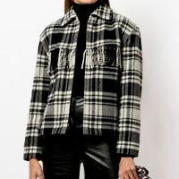 Polo Ralph Lauren Tweed Fringe Jacket Plaid Wool Blend Full Zip Women S NWT $598