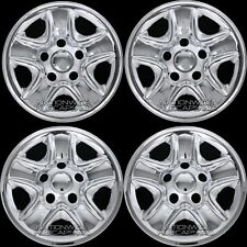"4 Chrome Wheel Skins fit 2007-20 Tundra 18"" Hub Caps Full Rim Covers Simulators"