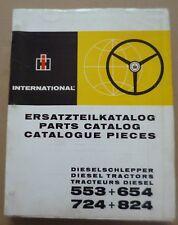 IHC Schlepper 553 + 654 + 724 + 824 Ersatzteilkatalog