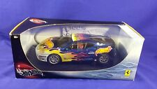 1/18 HOT WHEELS FERRARI 360 MODENA #5 BLUE W/ FLAMES