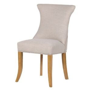 Coach House - Ivory Stud Dining Chair with Ring / Ivory Dining Chair