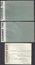 UK GB US 1940's WWII SIX STAMPLESS COVER SENT FREE WITH DIPLOMATIC POUCH MAIL