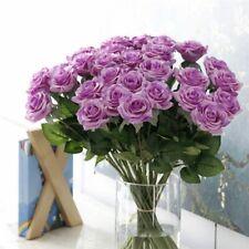 Artificial Wedding Rose Flowers 25pcs Silk Bouquet Decor Vine Party Home