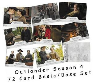 Outlander Season 4 (Four) - 72 Card Basic/Base Set - Cryptozoic 2020
