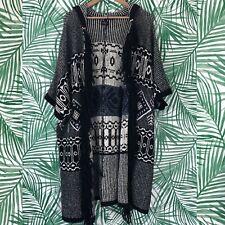 American Eagle Black White Southwestern Knit Cardigan Sweater Women's One Size