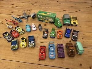 Disney Pixar Cars Bundle Job Lot - 27 Characters Die-Cast Lightning McQueen