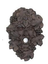 New listing Green Leaf Man garden face plaque ~ cast iron ~ Wine God Bacchus Dionysus Grape