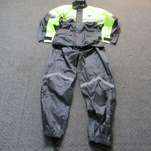 Nelson Rigg SR-6000 Stormrider Hooded Ventilated Waterproof Rain Suit Large