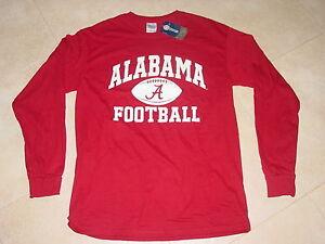 BAMA Alabama CRIMSON TIDE FOOTBALL long sleeve T-Shirt NEW TAGS ... sz..  SMALL