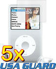 5x LCD Screen Protector Guard Shield Cover Film Apple iPod Classic 80/120/160 GB