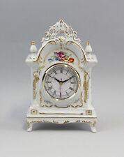 Tisch-Uhr Blumendekor Manufaktur-Porzellan 9987063