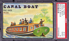 """1955 Topps Rails and Sails 141 """"Canal Boat"""".  PSA 9 MINT.  (TX7939)."""