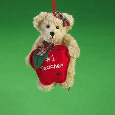 """Boyds Christmas 2010 """"Miss Wise"""" Teacher Bear Orn - NEW"""