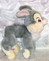 """PRE-OWNED DISNEY STORE STUFFED ANIMAL BAMBI THUMPER RABBIT TOY RARE ABOUT 11"""""""