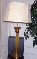 Vintage Marbro Corroso Murano Art Nouveau Glass Lamp