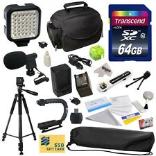 Advanced Accessories Kit for Canon HF S10 S11 S20 S21 S30 G10 G20 S100 Camcorder