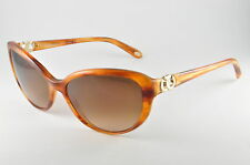 Tiffany & Co TF 4045 80463B Striped Brown Womens Cat Eye Sunglasses