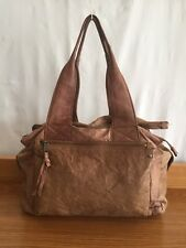 RRP $269.95 Womens Witchery Brown Leather Nicky Twin Strap Handbag Tote Bag