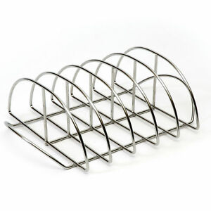 Kamado Joe Stainless Steel Rust Proof Dishwasher Safe Portable Grilling Rib Rack
