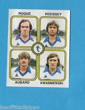 FRANCIA-FOOTBALL 82-PANINI-Figurina n.425- ROQUE+ROUSSEY+AUBARD-CHATEAUROUX-Rec