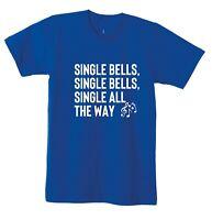 Single Bells Jingle Bells Funny Christmas T Shirt Tee Present for Singles Unisex