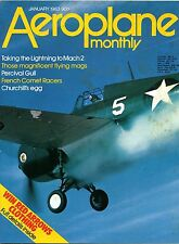 Aeroplane Monthly 1983 January Percival Gull,DH88 Comet,Lightning