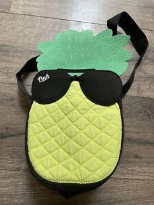 PINK purse pineapple NWOT black strap woth PINK detail