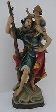 Hl. Christopherus, Holz geschnitzt - 30,5cm
