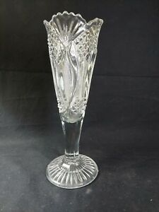 tall clear glass vase