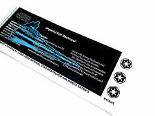 'DIE CUT' REPLACEMENT STICKERS for STAR WARS LEGO 10030 IMPERIAL STAR DESTROYER+