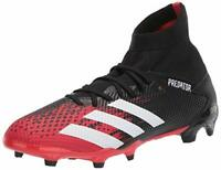 adidas Men's Predator 20.3 Firm Ground Soccer Shoe, Core Black/White, Size 8.0 x