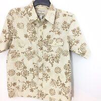 Honolua M Medium Men's Cotton Tan Brown Button Up Shirt New Regular Fit