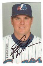 MONTREAL EXPOS PLAYER BRAD WILKERSON AUTOGRAPH ON AN EXPOS PHOTO-CARD !!