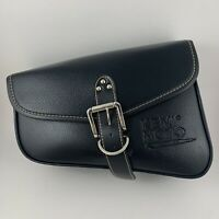 "Kemi Moto Motorcycle Saddle Bag Approx. 11""x8.5"" Black Leather"