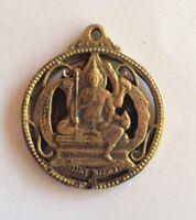 SHIVA BOUDDHA INDE statuette laiton médaille amulette Hindouisme Thaïlande s10
