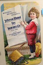1910 Incredible Diecut Calendar Top Sign  Mutual Fire Insurance St Louis