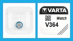 1 x Varta  V364 SR621SW SR621 SR60 AG1 Silber0xid Knopfzelle Uhrenbatterie