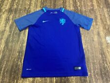 2016 Netherlands National Team Nike Blue Soccer Jersey - Youth Large