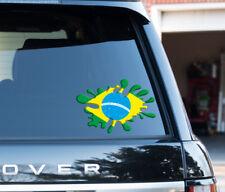 Brazil Brazilian Flag Splat funny Decal Sticker Car Van, Laptop suit case Travel