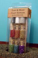 Glass Glitter Rainbow Bottle Set #311-0014 - German Glass Glitter