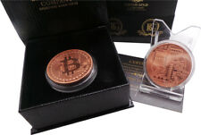 BITCOIN 18k ROSE Gold Clad Luxury Gift Digital Crypto Currency Wallet