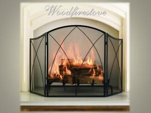 FIREPLACE FIRE GUARD FIRESCREEN FIRE SCREEN WOOD HEATER Chaleur