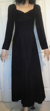 Vintage Black Velvet Long Party Dress Sweetheart Neckline Marlene's Bridal 8