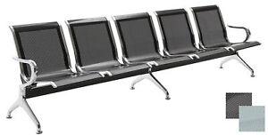5er Wartebank Airport Metallbank gelocht Flughafenbank Traversenbank Sitzbank