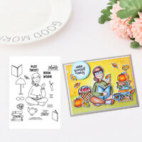 Metal Cutting Dies Girl Reading A Book Model For Stamp And Graphic Design Diy
